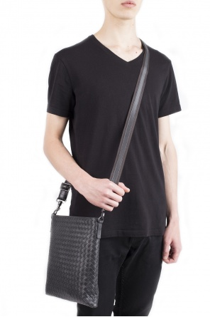 Grey cross body bag od Bottega Veneta