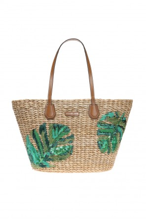 'malibu' straw beach bag od Michael Kors