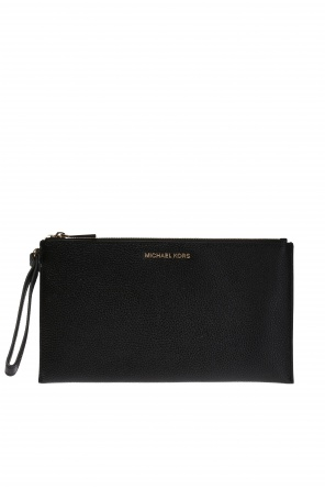 Metal logo clutch od Michael Kors