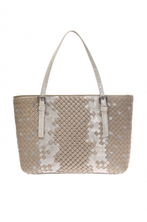 Snake skin shoulder bag od Bottega Veneta