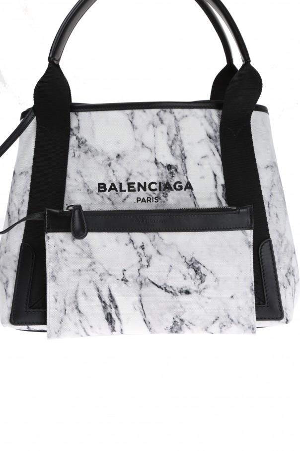 Marble Navy Cabas Shoulder Bag Od Balenciaga