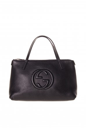 Leather logo hand bag od Gucci Kids