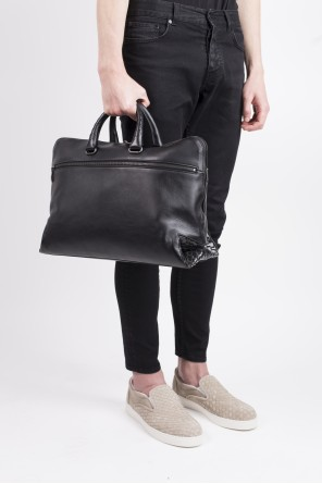 Black briefcase od Bottega Veneta