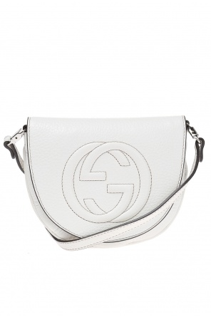 Leather shoulder bag od Gucci Kids