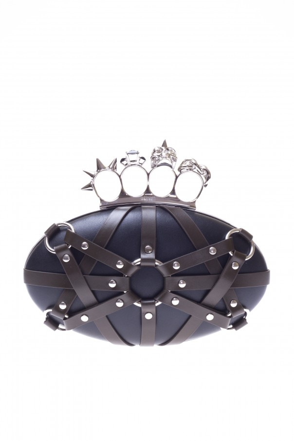 Torebka do rĘki z kastetem, model 'knuckle' od Alexander McQueen