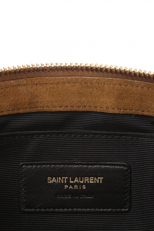 Zamszowa torba do rĘki od Saint Laurent Paris