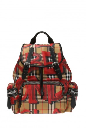 Checked backpack with logo od Burberry