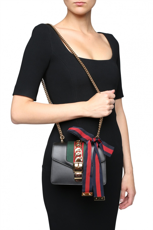 62df8fe1295 Sylvie  leather shoulder bag Gucci - Vitkac shop online