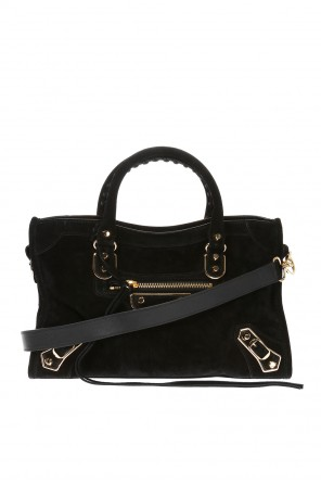 'mini city' suede shoulder bag od Balenciaga