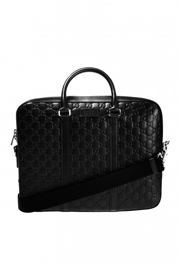 Gucci Logo-embossed briefcase