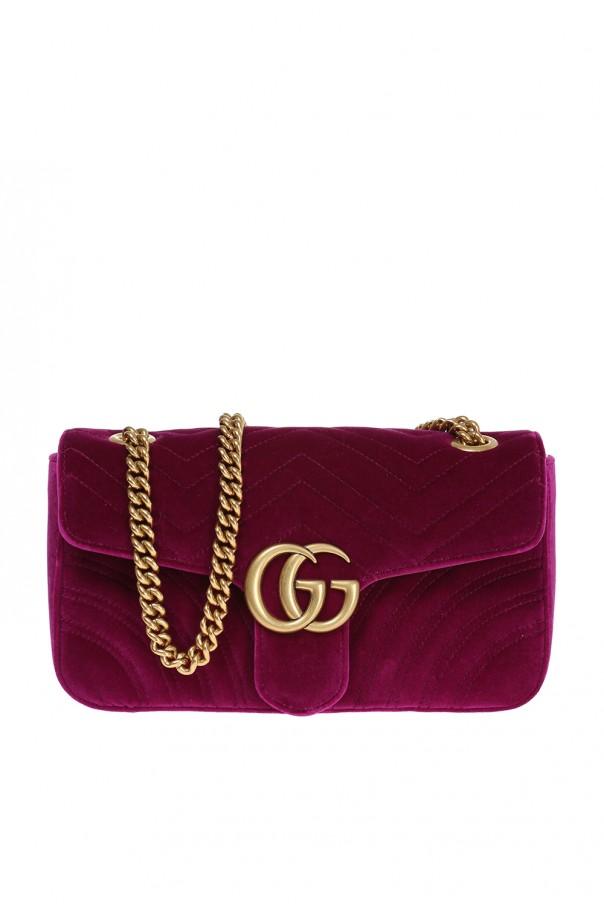 58dc737ca77 GG Marmont' velvet shoulder bag Gucci - Vitkac shop online