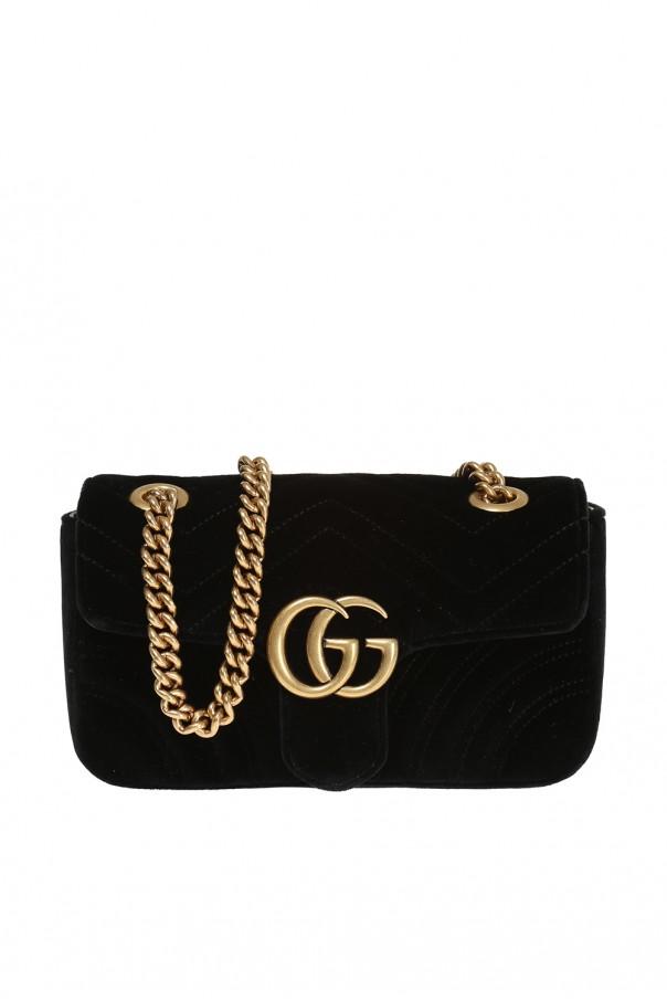 f2ea54d4a69e7 Aksamitna torba na ramię 'GG Marmont' Gucci - sklep internetowy Vitkac