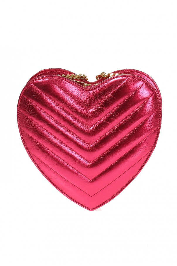 Pikowana torba na ramię 'love heart' od Saint Laurent