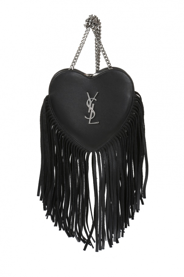 Torba na ramię 'love heart' z frędzlami od Saint Laurent Paris