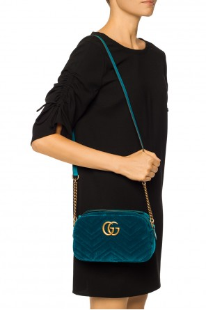 Quilted shoulder bag with logo od Gucci