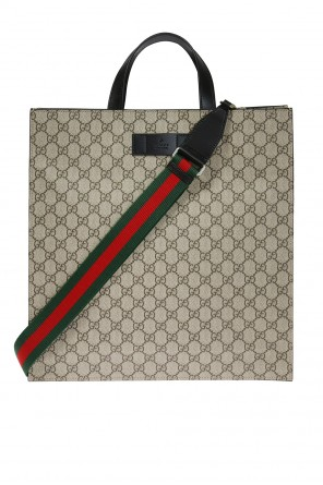 Logo-embossed shoulder bag od Gucci