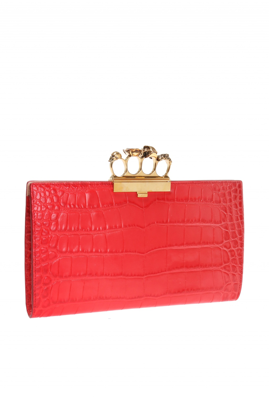 Alexander McQueen Clutch with knuckle-duster shaped handle