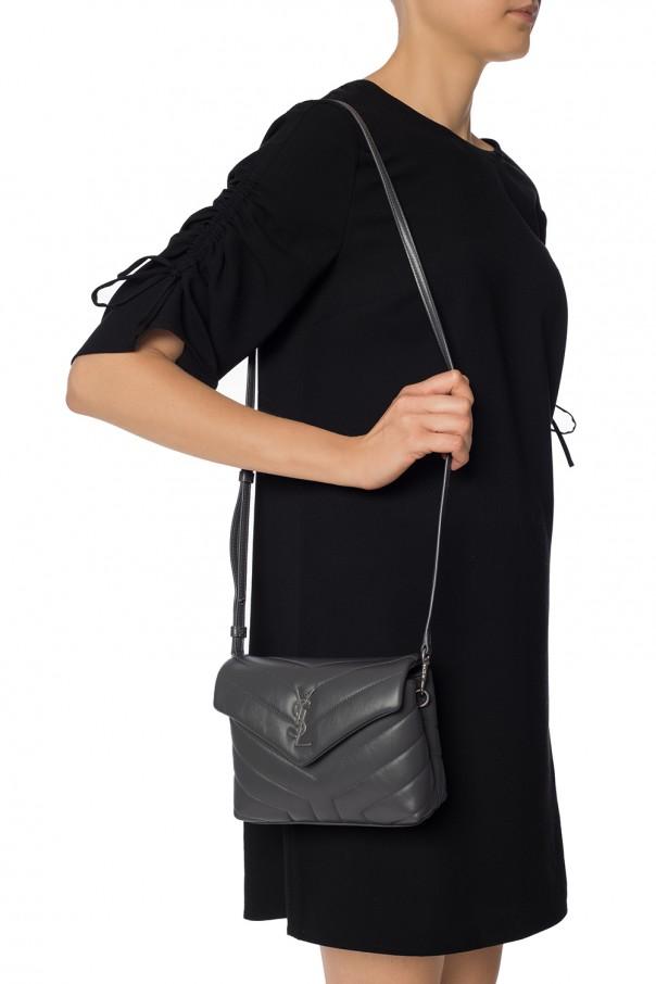 Saint Laurent Toy Loulou Shoulder Bag Leather Blue