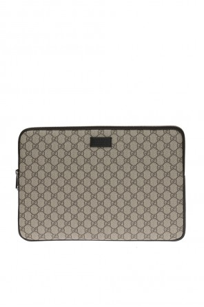 'gg supreme' canvas laptop case od Gucci