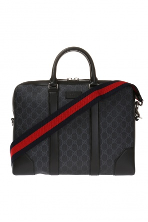 'gg supreme' canvas briefcase od Gucci