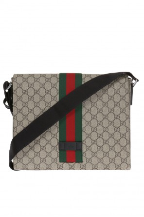 'gg supreme' canvas shoulder bag od Gucci