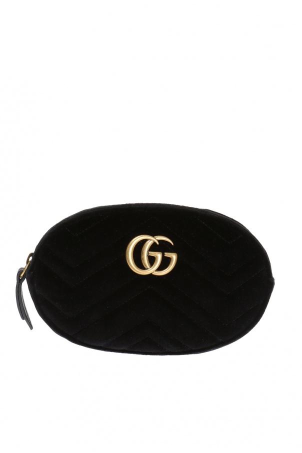 17a21ede3c19d GG Marmont  velvet belt bag Gucci - Vitkac shop online