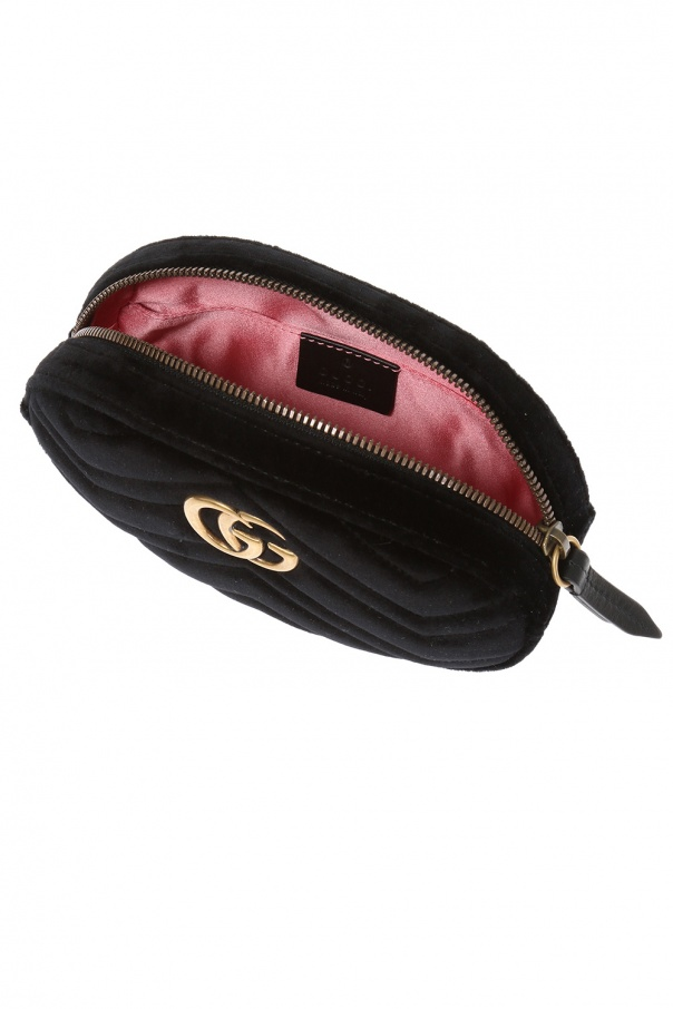5155e45658c03b GG Marmont' velvet belt bag Gucci - Vitkac shop online