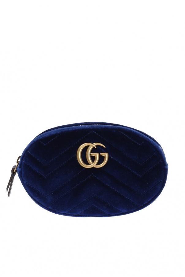 b3d48a4d8e7 GG Marmont  velvet belt bag Gucci - Vitkac shop online