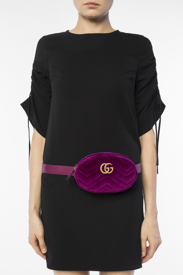 Gucci belt bag velvet pink