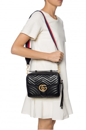 'marmont' quilted shoulder bag od Gucci