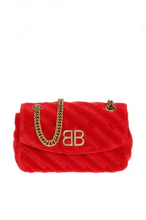 Logo-embroidered quilted shoulder bag od Balenciaga