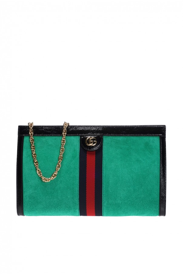 a75f5c92a926 Gucci Ophidia Medium Red Suede Shoulder Bag 503876 Green | Stanford ...