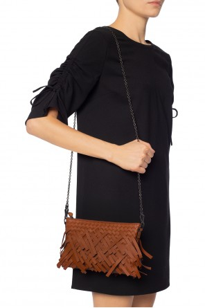 Shoulder bag with a braid and fringes od Bottega Veneta