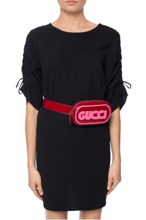Belt bag with rubber logo od Gucci