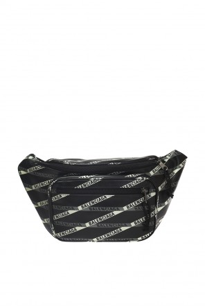 Patterned waist bag with a logo od Balenciaga