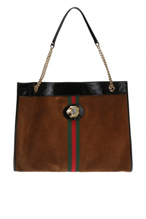 Shoulder bag with metal tiger head od Gucci