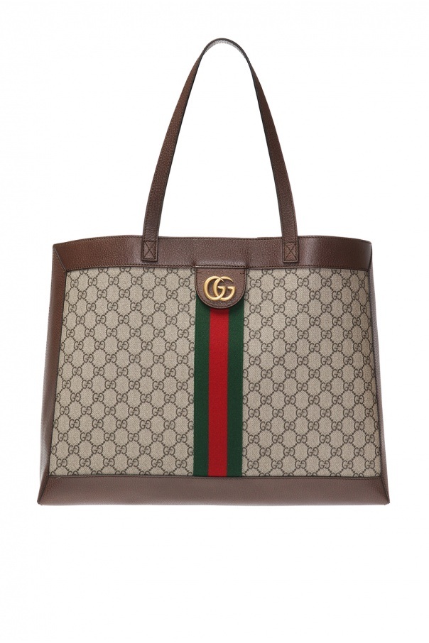 'ophidia' bag with metal logo od Gucci