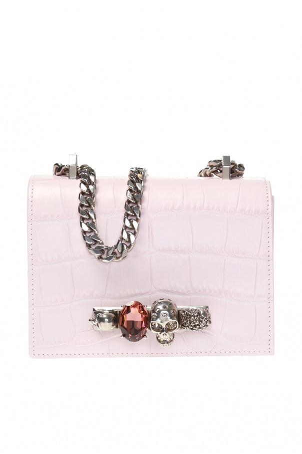 Alexander McQueen Shoulder bag with Swarovski crystals