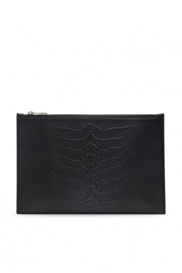 Alexander McQueen Handbag with motif of skeleton