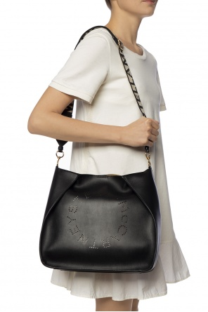 Shoulder bag with a perforated logo pattern od Stella McCartney