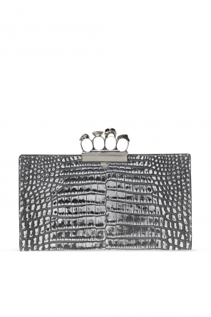 Clutch with decorative handle od Alexander McQueen