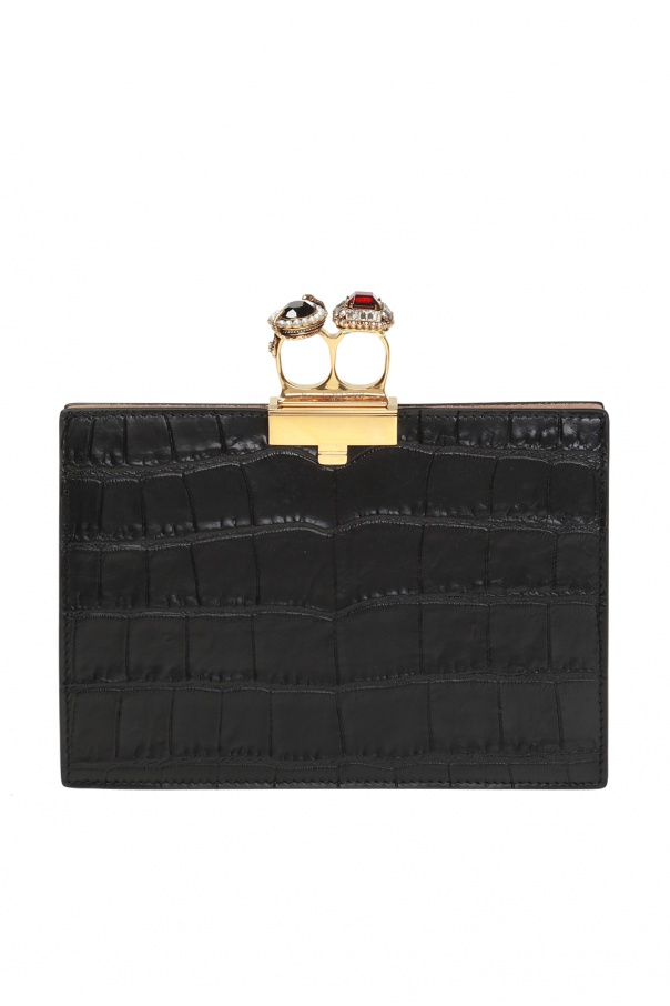 Knuckle duster clutch od Alexander McQueen