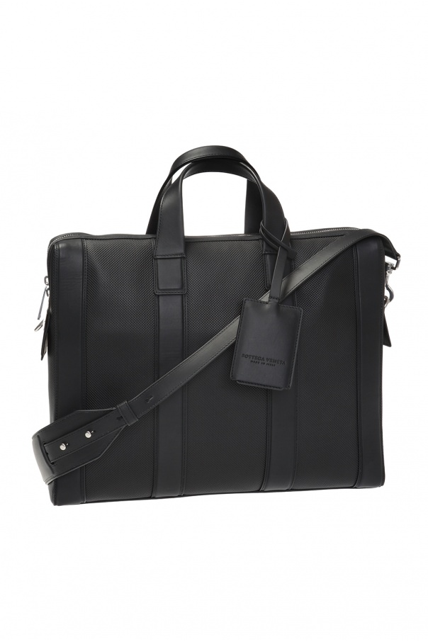 Logo-embossed briefcase od Bottega Veneta
