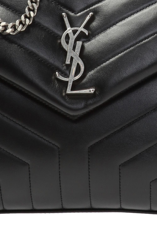 Saint Laurent Pikowana torba na ramię 'Loulou'