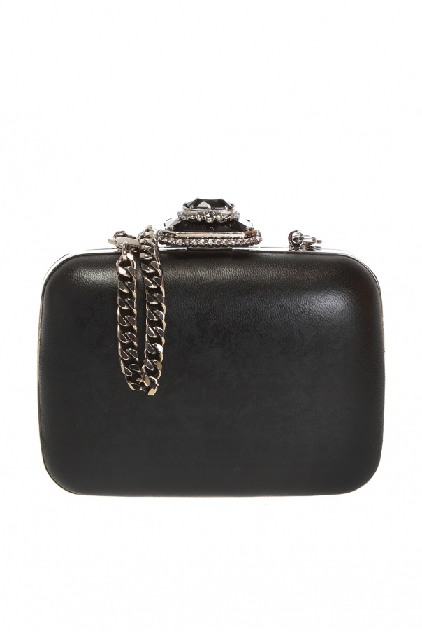 Leather shoulder bag od Alexander McQueen