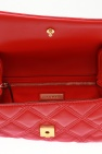 Tory Burch 'FLEMING' Leather clutch with logo