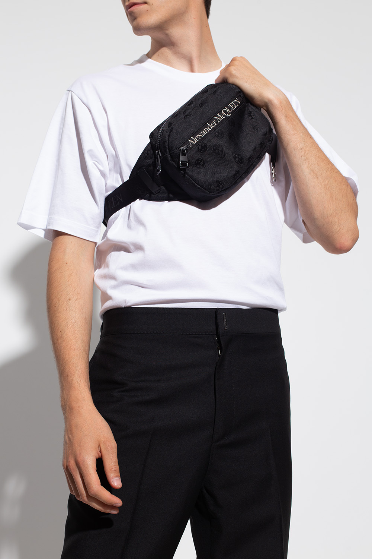Alexander McQueen Torba na pas z logo