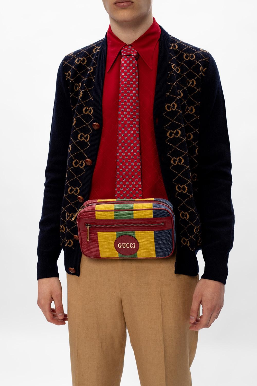 Gucci logo腰包