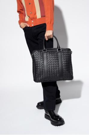 Briefcase with intrecciato weave od Bottega Veneta