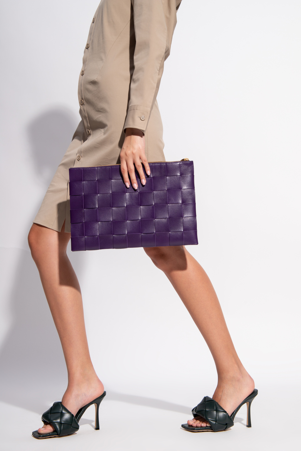 Bottega Veneta Clutch with 'Intrecciato' weave